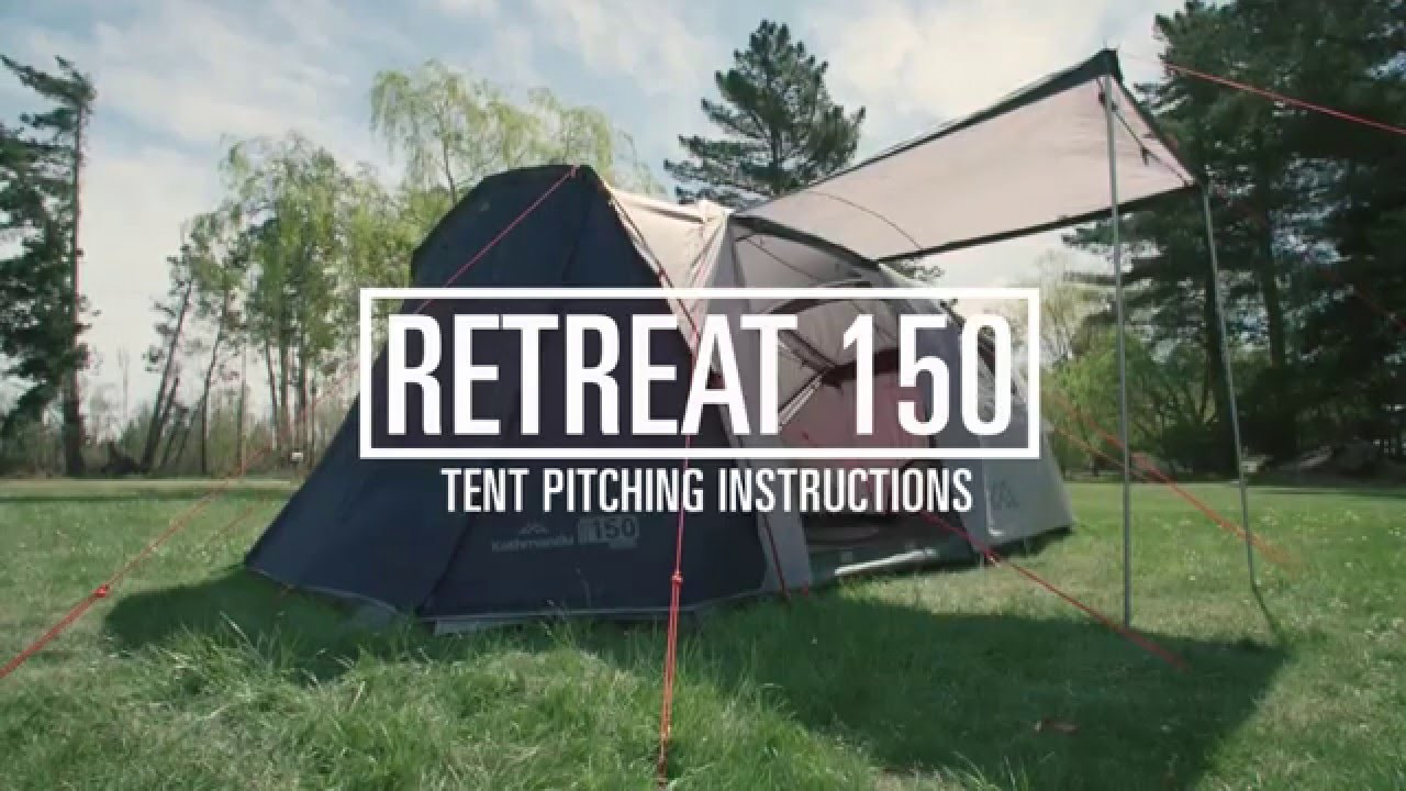 & How to Pitch a Kathmandu Retreat 150 Tent - YouTube