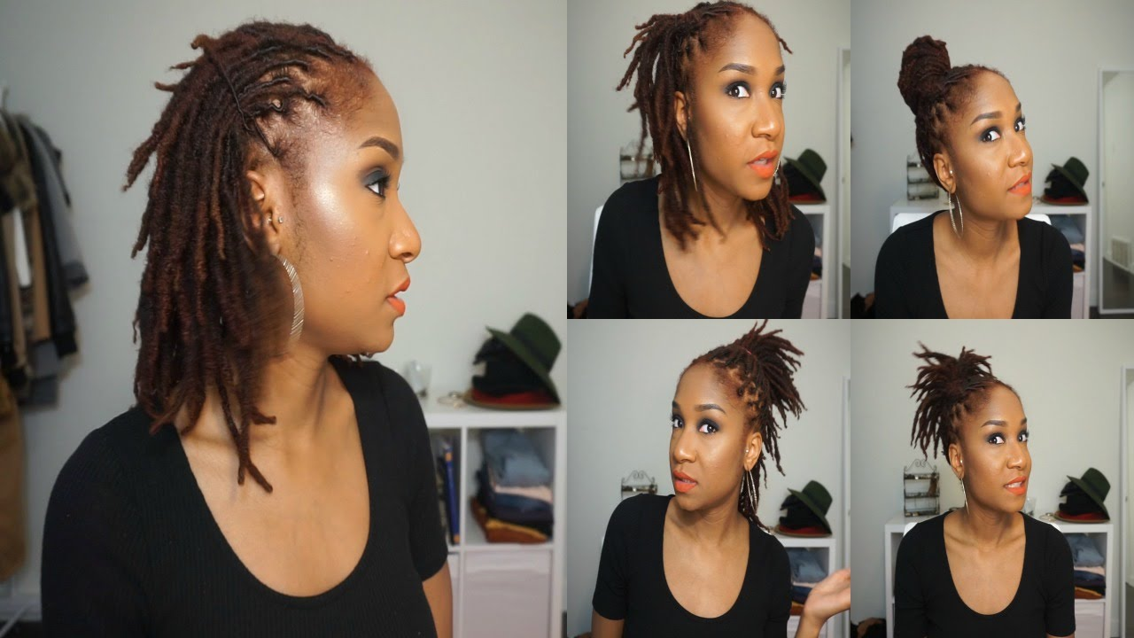 5 Quick Hairstyles For Short Medium Dreads Youtube