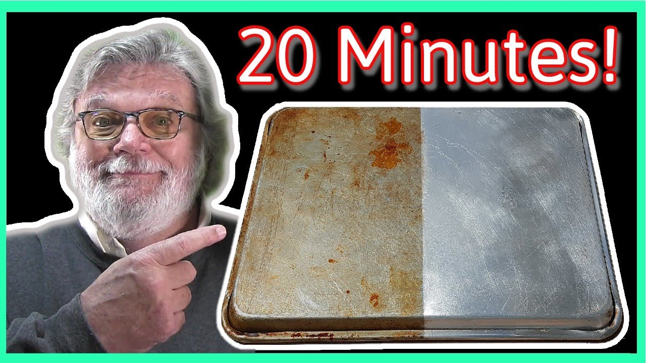 How to clean old stained cookie sheets