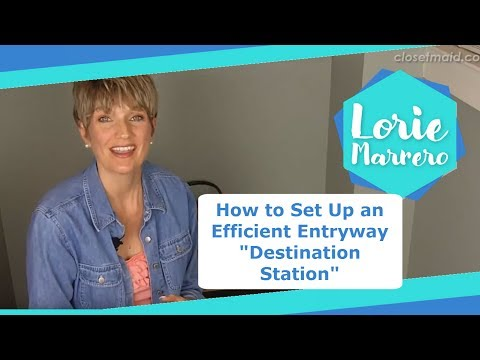 """How to Set Up an Efficient Entryway """"Destination Station""""   Clutter Video Tip"""