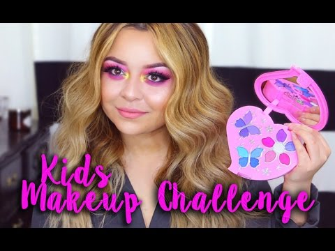 Full Face Using Only Kids Makeup Challenge Youtube