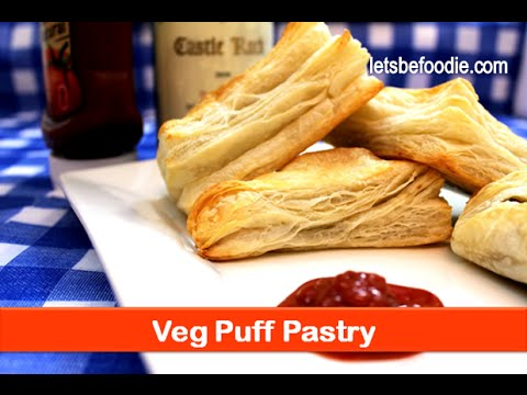 Veg aloo puffs pastry recipe/Indian vegetarian snacks ideas/pastries sheets recipes-letsbefoodie.com