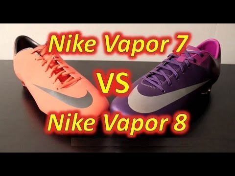 best website 6b924 2fe3d Nike Mercurial Vapor VIII VS Nike Mercurial Vapor VII - Comparison