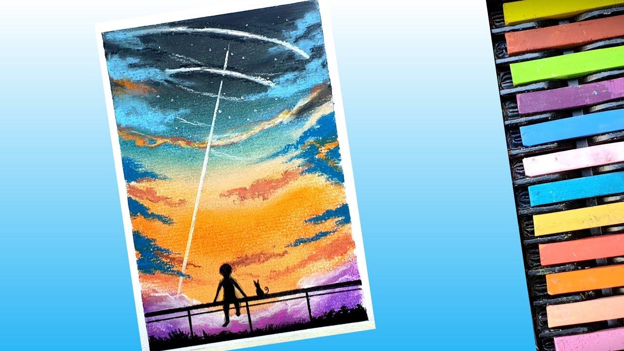 Vẽ phấn tiên / Vẽ tranh galaxy / Galaxy drawing / Soft pastel drawing | K37P1 Art