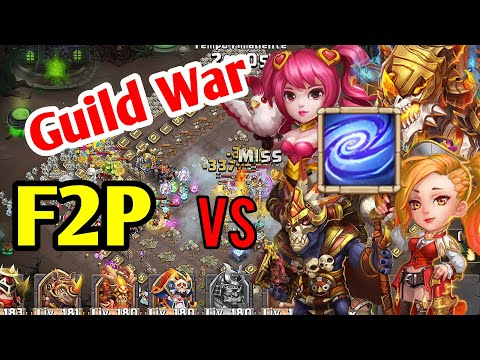 GUERRA Tra GILDE F2P! GW Vs Top5 - Empower Heroes! Incredible Ronin! | Castle Clash ITA
