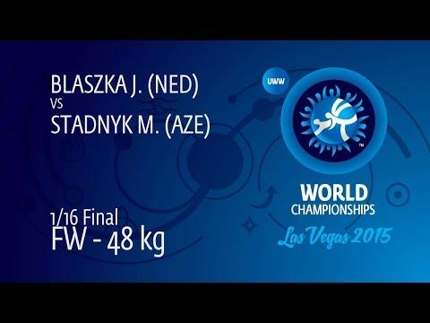 1/16 FW - 48 kg: M. STADNYK (AZE) df. J. BLASZKA (NED) by TF, 11-0