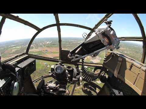 Flying in the B-25 Medium Bomber