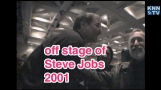 Off stage of Steve Jobs 2001