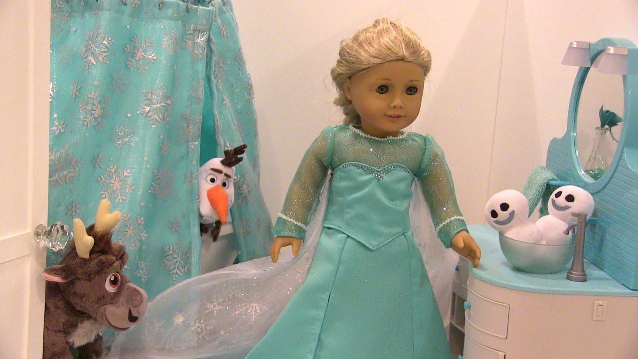 American Girl Doll Elsau0027s Frozen Ice Castle Bathroom Svenu0027s Wild Bubble  Bath (AGSM)   YouTube