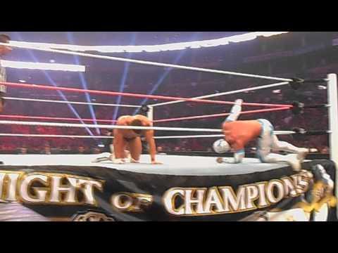 WWE Night of Champions 2012 - Rey Mysterio Bump