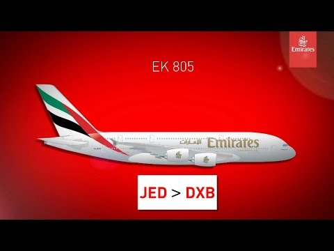 The Emirates Journey | Emirates A380-800 | JED-DXB | Full Flight-Welcome Aboard *Revised*