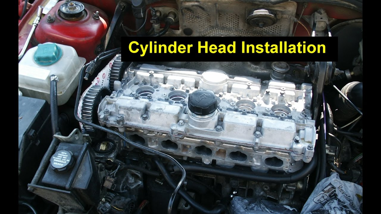 cylinder head installation  head gasket  lifters  cam