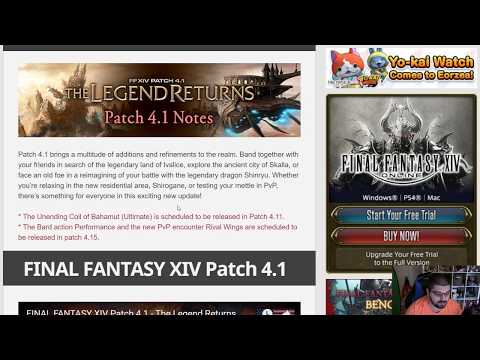 FFXIV: Patch 4.1 Prelim Patch Note Overview & Thoughts