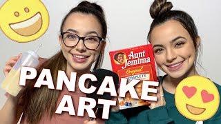 Pancake Art Challenge - Merrell Twins LIVE