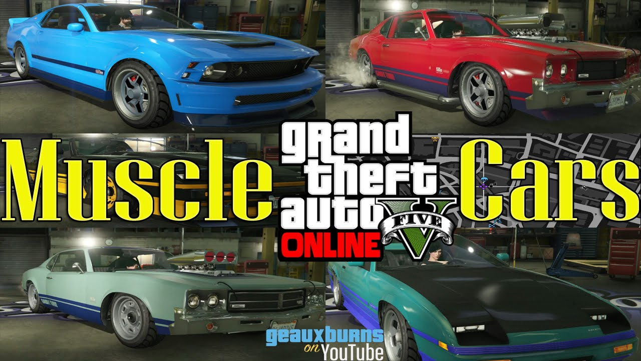 Gta Online Rare Unique Muscle Cars Youtube