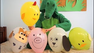 Learn Animals Jumping on the Bed - Funny Nursery Rhymes song compilation