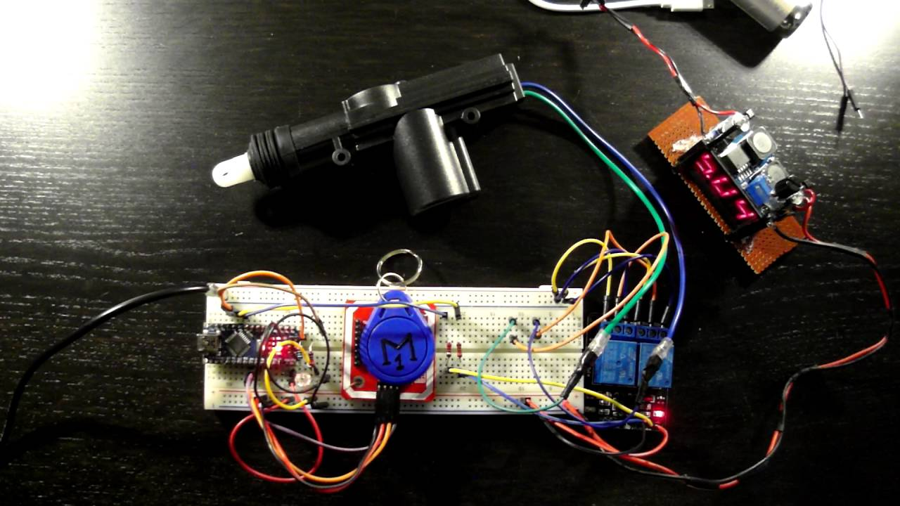 Home Security: Access Control System Using NFC and Micro Linear Actuator  Video 1