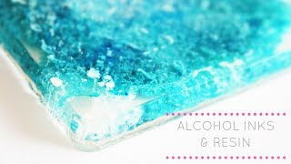 Alcohol Inks and Resin Tutorial | Resin Coaster | New Studio!