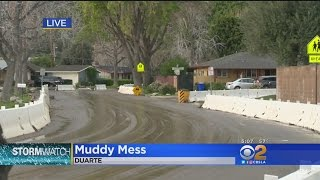 Duarte Cleans Up Mud And Debris (Once Again) Following Storm