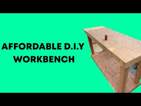 Affordable D.I.Y Workbench (FREE DOWNLOADABLE PLANS)