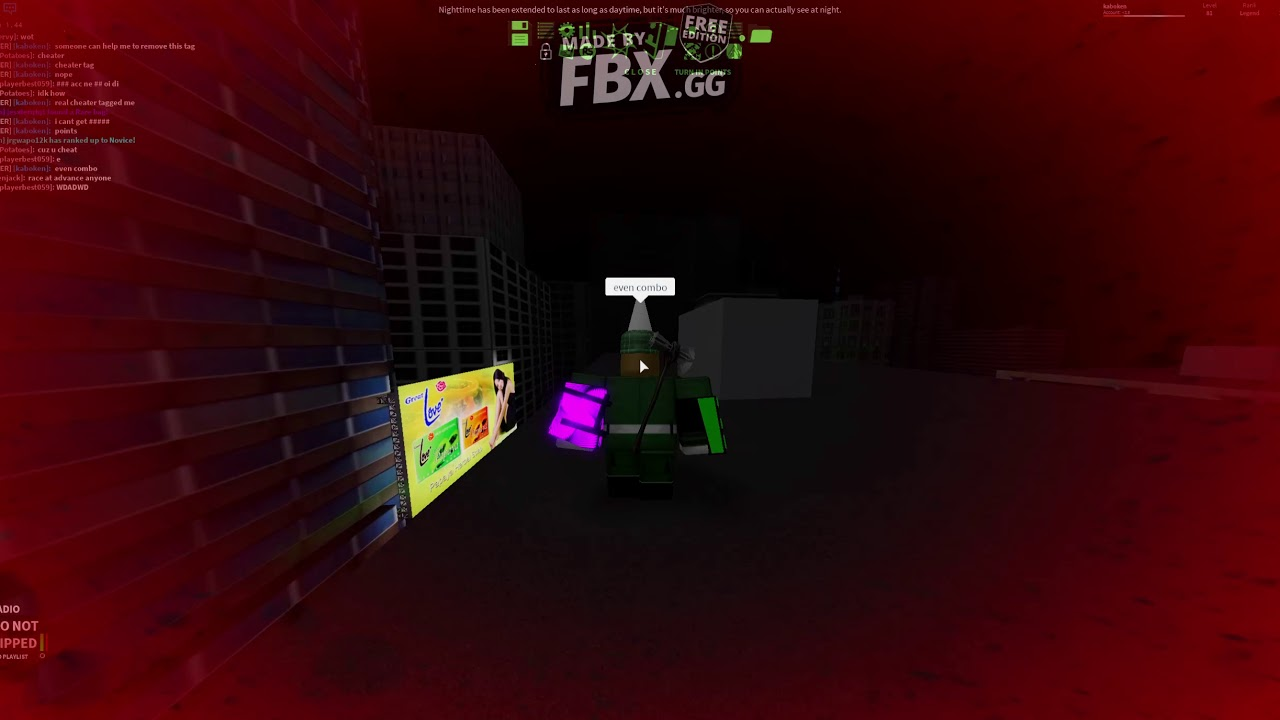 ROBLOX PARKOUR HELP ME TO REMOVE THIS CHEATER TAG PLEASE