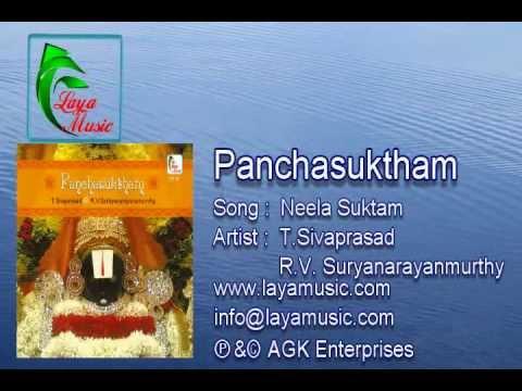 Sanskirit - Vedam -  Vedas - Neela Suktam - Album_Panchasuktham