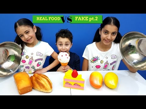 Real Food Vs Fake Food Challenge 2 !!