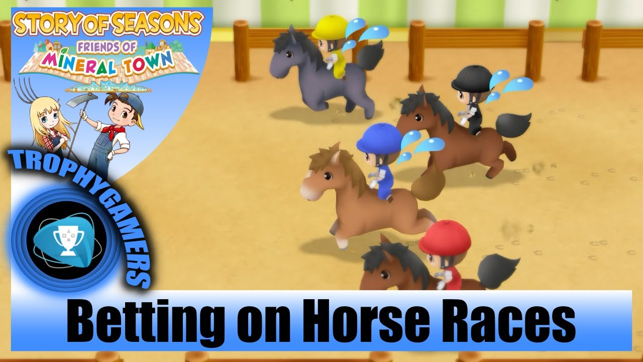 Story Of Seasons Friends Of Mineral Town Betting On The Horse Races Spring Derby Festival Youtube