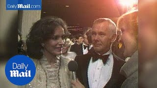 Joanne and Johnny Carson attend LA premiere in 1985 - Daily Mail