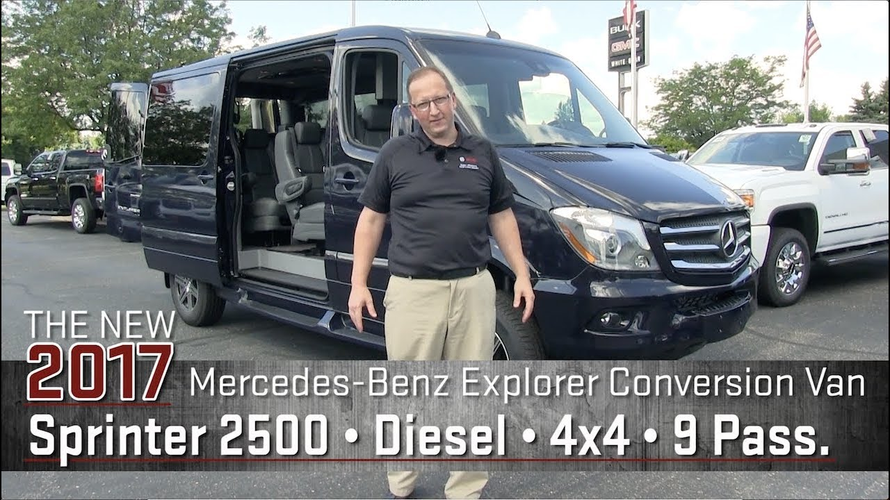 New 2017 Mercedes Benz Sprinter 2500 Explorer Conversion Van 4x4 Diesel