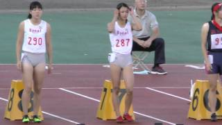 20150919群馬高校新人陸上女子100m決勝 奥村ユリ 検索動画 28