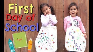 Their First Day of School! -  ItsJudysLife Vlogs
