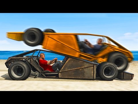 RAMP CAR vs. RAMP CAR RACE! (GTA 5 Funny Moments)