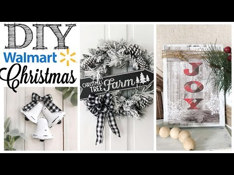 DIY Walmart Christmas Decor | 3 PROJECTS!