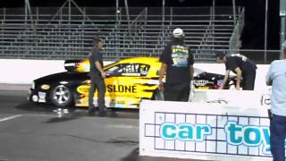 Pro Stock Testing on Thursday night clicks off a 213MPH pass!