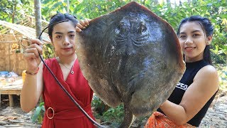 Yummy cooking stingray fish recipe  Cooking sea food
