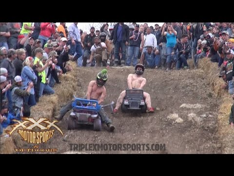 VIOLENT BARBIE JEEP RACING!!