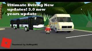 ROBLOX : Ultimate Driving New years update!! NEW CARS !!!!