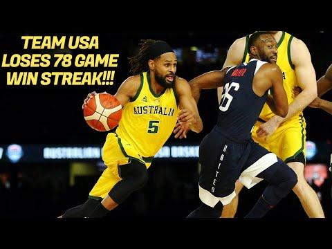 TEAM USA LOSES 78 GAME WIN STREAK!!!