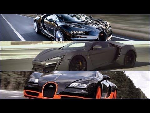 Bugatti Veyron Hypersport bugatti chiron vs lykan hyper-sport vs bugatti super sport amazing