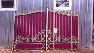 видео Кованые ворота и калитки заказать у производителя в Казани