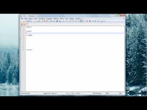 HTML Tutorial #1 Creating An HTML File