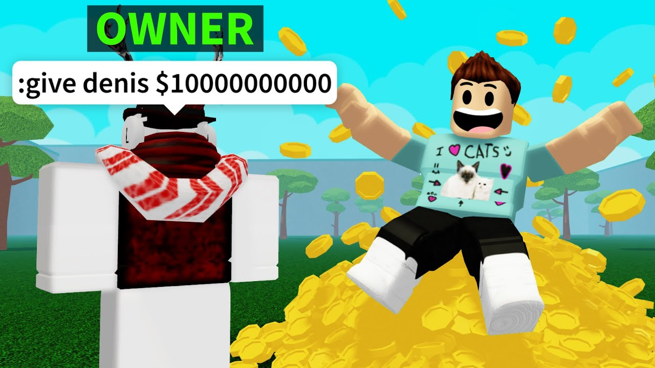 The Owner Gave Me Infinite Money In His Roblox Game Youtube