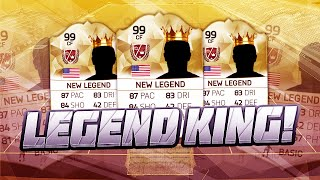 FIFA 16 - KING OF THE LEGENDS!!! - NEW SERIES SQUAD BUILDER - FIFA 16 ULTIMATE TEAM
