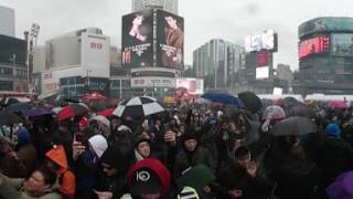 A 360 view of the crowds during 4/20 marijuana rally