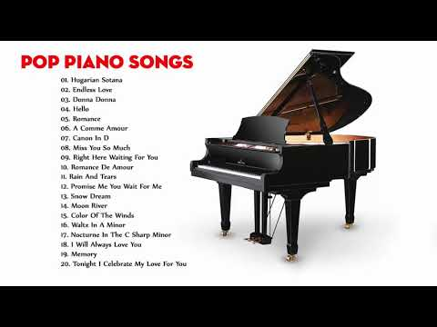 Piano Hits Pop Songs 2018 - Best Popular Songs - Piano Popular Songs  Playlist - Relaxing Music HD