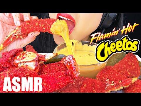 ASMR POPULAR CHEESY HOT CHEETOS FOOD (KING CRAB, LOBSTER TAIL, CHICKEN NUGGETS) | ASMR Phan