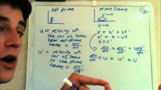 Special Relativity 2: Derivation of Addition of Velocities Formula