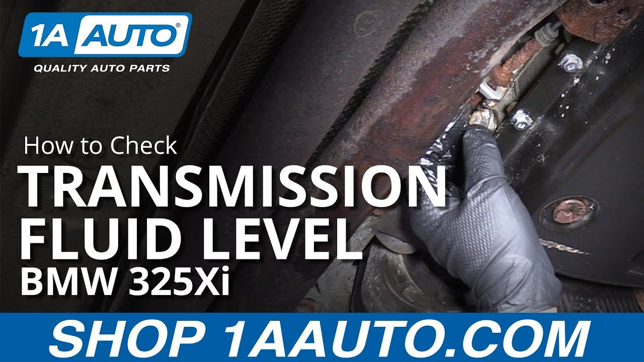 Check Transmission Fluid >> How To Check Transmission Fluid Level 97 06 Bmw 325xi