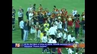 """Storica serata al """"Via del Mare"""": in campo i calciatori del Lecce della prima promozione in Serie A"""